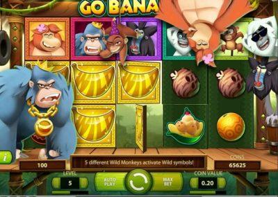 go bananas mega büyük kazanç